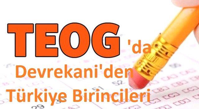 TEOG'da 2 Türkiye Birincisi DEVREKANİ'den