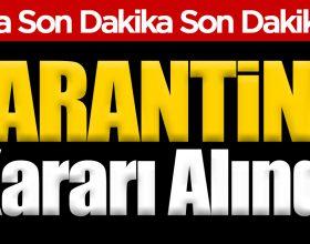 Devrekani Göynükören Köyü'ne Karantina Kararı !