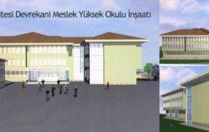 Devrekani Meslek Yüksek Okulu Ek Bina yapımı başlıyor..