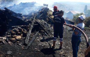 Devrekani Kızacık Köyü'nde Yangın