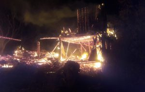 Devrekani Çatak Köyü'nde Yangın 1 Ev,Ahır ve Samanlığı Kül Etti.