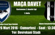 Devrekani Belediye Esnaf Spor ilk maçına çıkıyor..