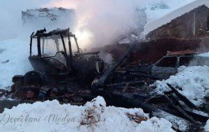 Devrekani İnciğez Köyü'nde Sabah Saatlerinde Yangın Çıktı.