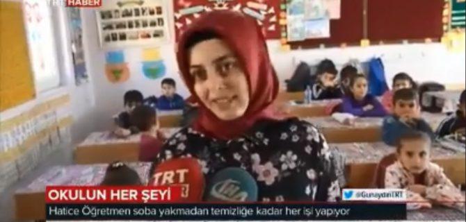 Devrekanili fedakar öğretmen Hatice Şahbazoğlu yaptıklarıyla ulusal basında yer aldı.