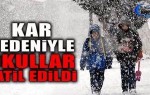 Devrekani'de Yoğun Kar Yağışı Nedeniyle Eğitime 1 Gün Ara Verildi.