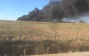 Devrekani Anadolu Çiftliği'nde Yangın Çıktı.
