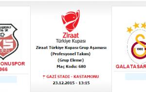 Kastamonuspor 1966 – Galatasaray Maç Tarihi ve Saati belli oldu.